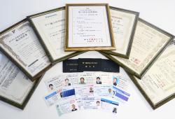 資格免許状・施工認定証